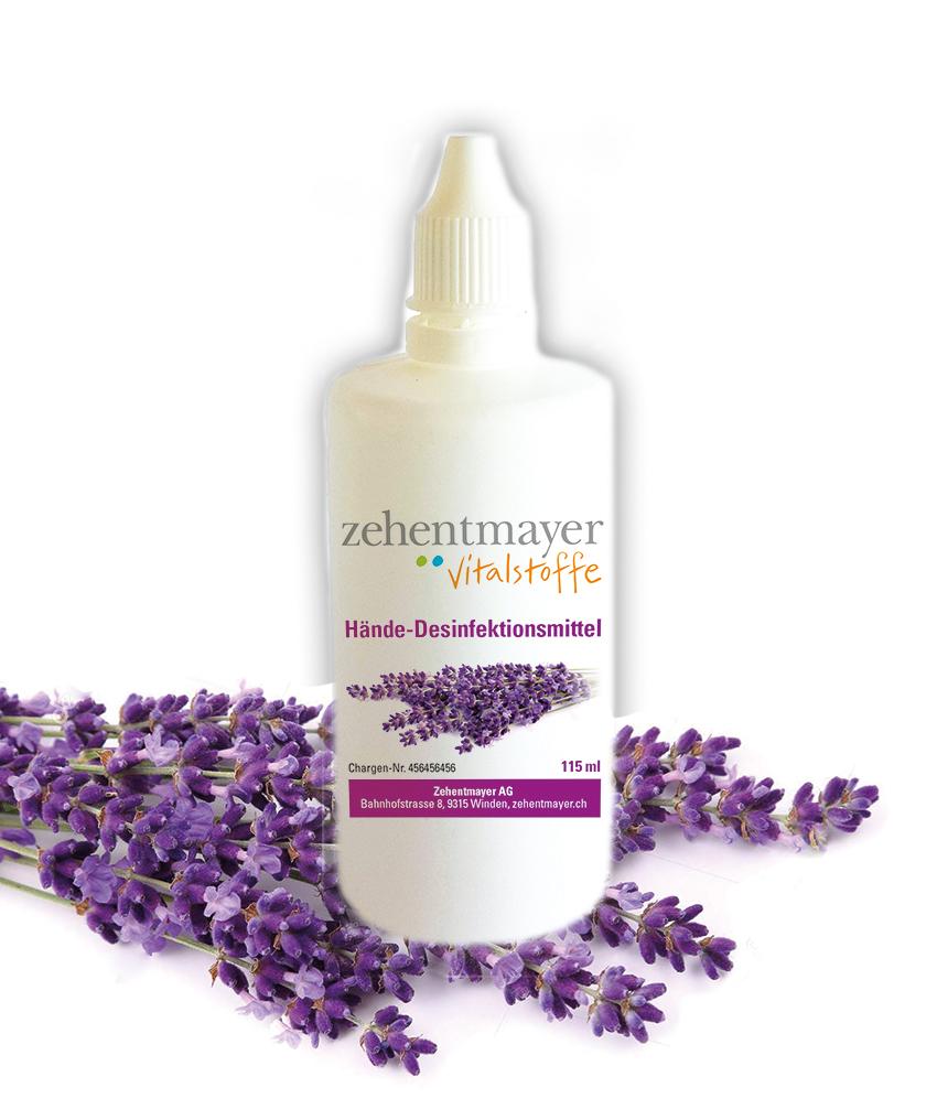 Hände-Desinfektionsmittel (115 ml) mit Lavendelöl